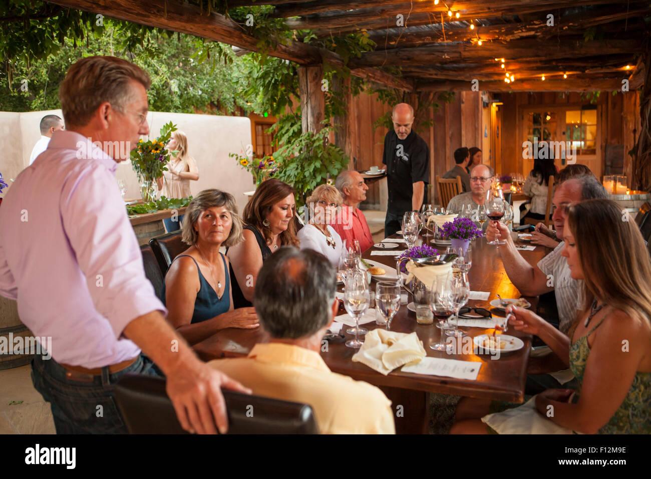 Members' Dinner at Roblar Winery, Santa Ynez Valley, California - Stock Image