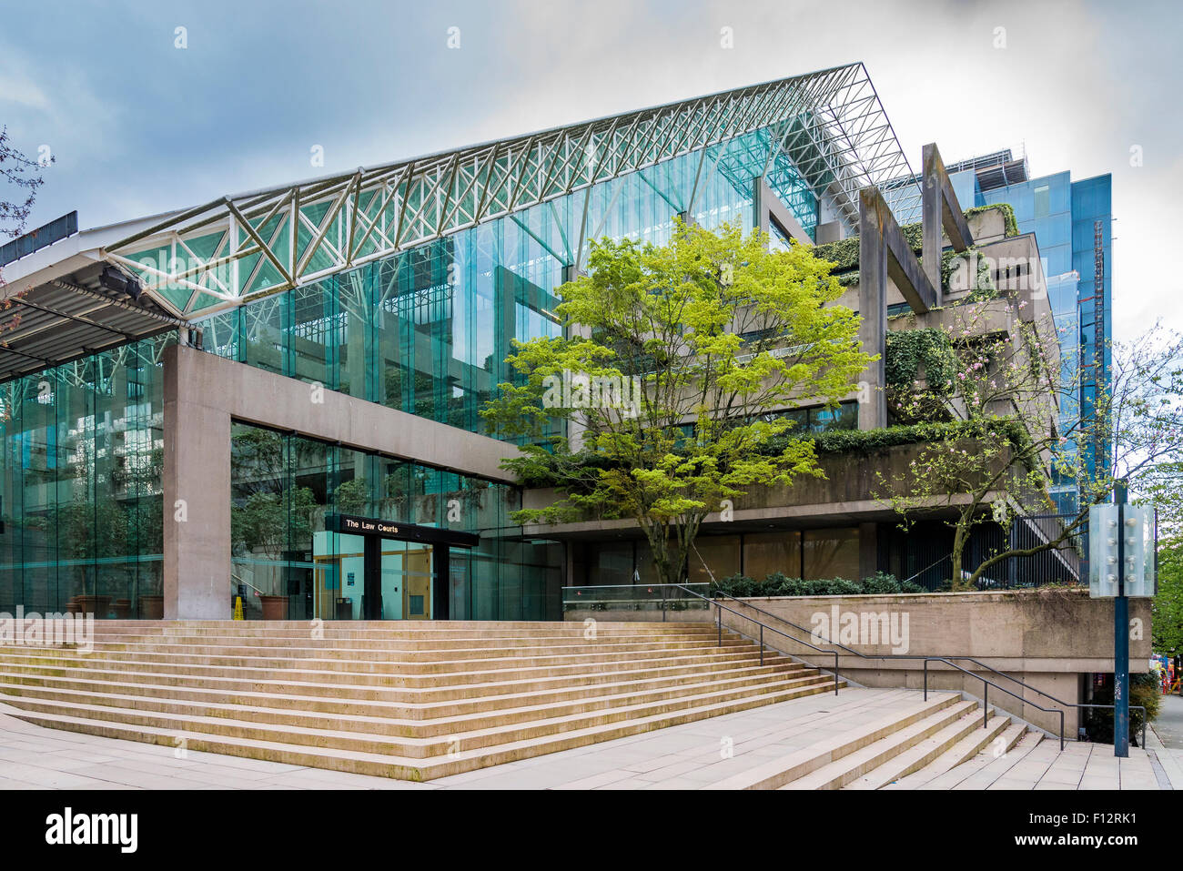 The Law Courts, Robson Square, Vancouver,  British Columbia, Canada - Stock Image