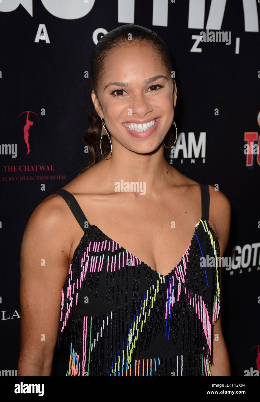 New York, NY, USA. 25th Aug, 2015. Misty Copeland at a public appearance for Misty Copeland Debuts on Broadway in - Stock Image
