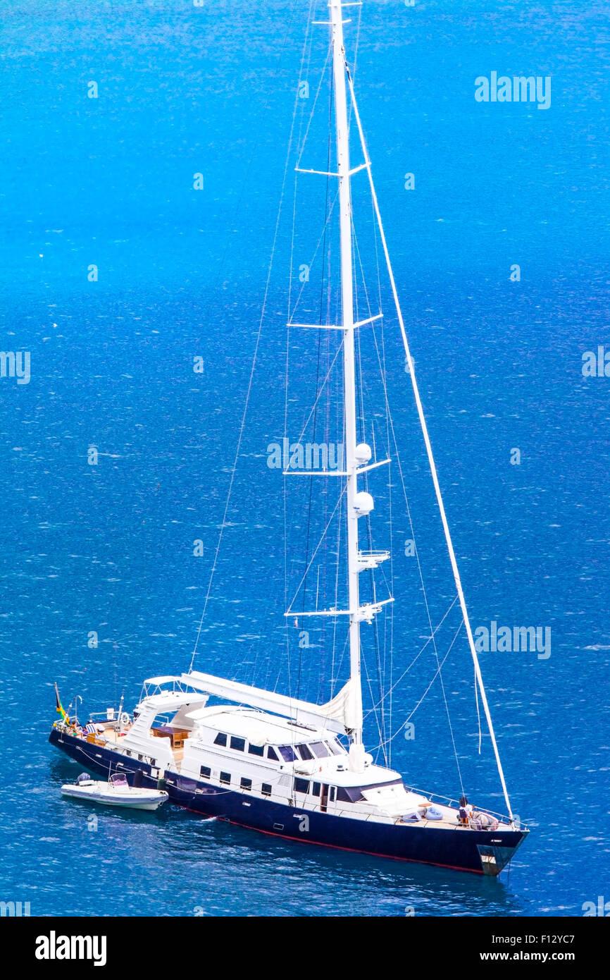 luxury yacht in the sea Stock Photo