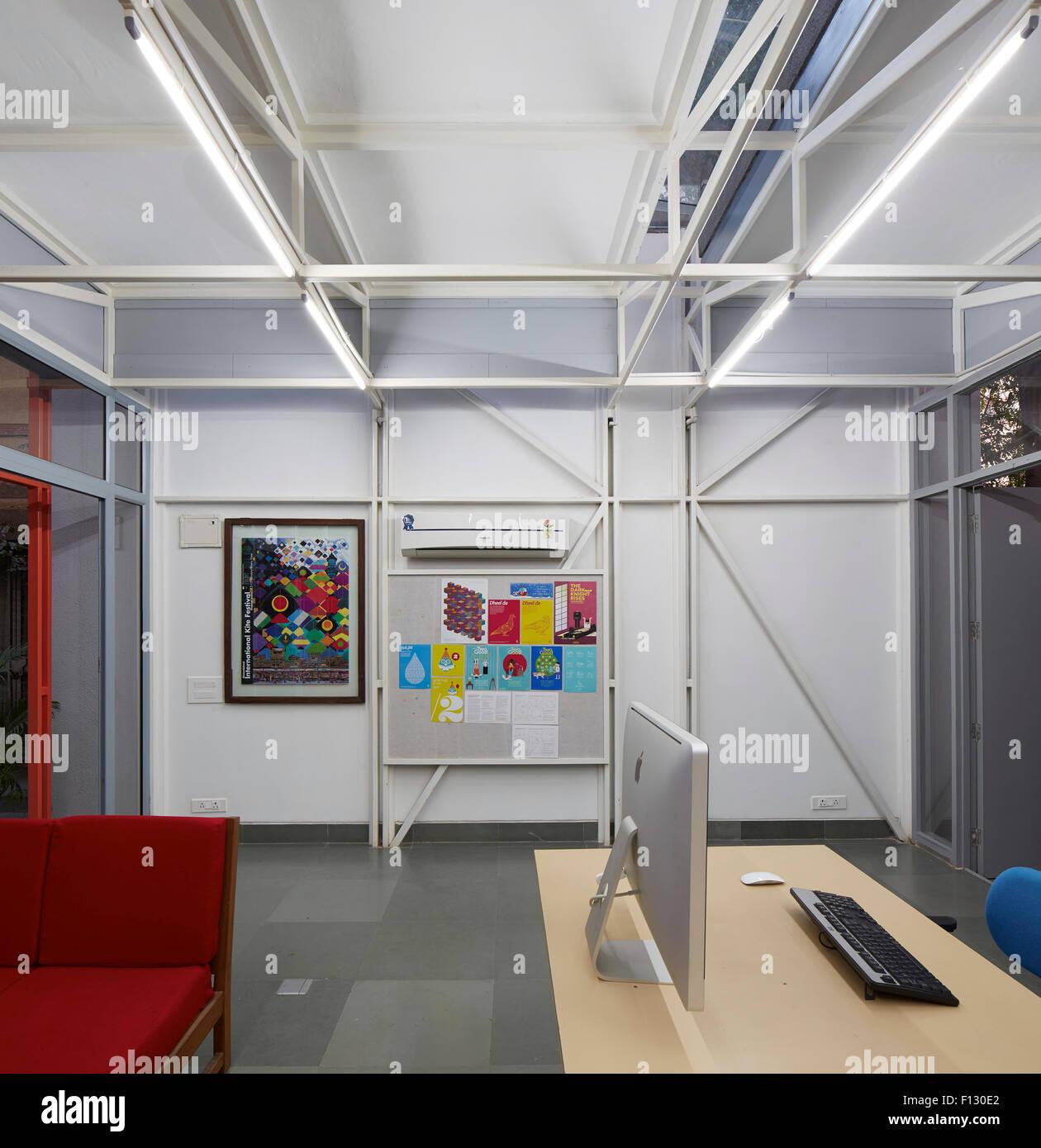 Interior View. Studio For Hazel Karkaria Graphic Designer, Ahmedabad,  India. Architect: