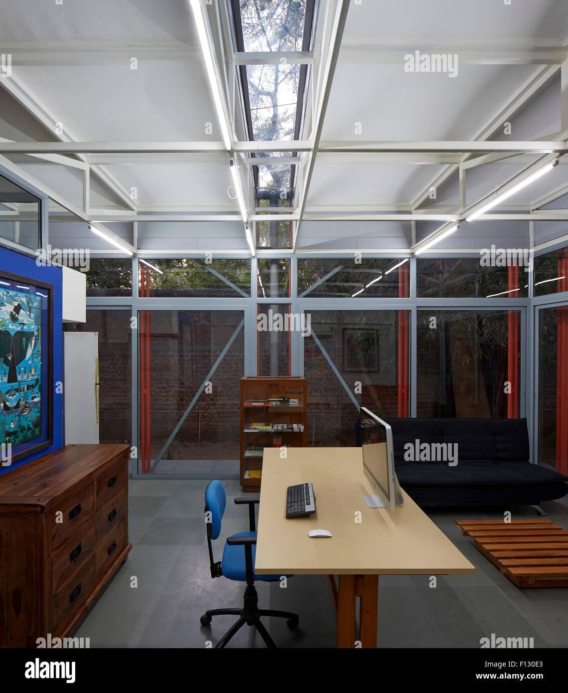 Interior View. Studio For Hazel Karkaria Graphic Designer, Ahmedabad,  India. Architect: Anthill Design , 2015.