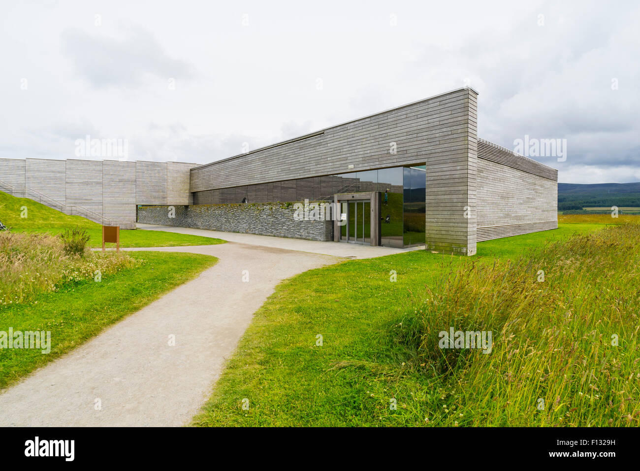 National Trust for Scotland Visitor Centre at Culloden Moor in Scotland. - Stock Image