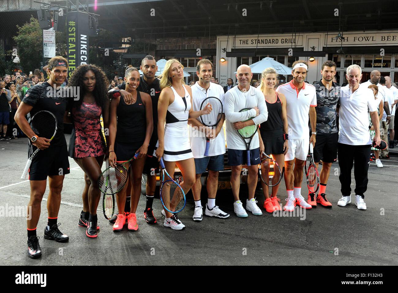 Tennis Players Rafael Nadal Serena Williams Madison Keys Nick Stock Photo Alamy