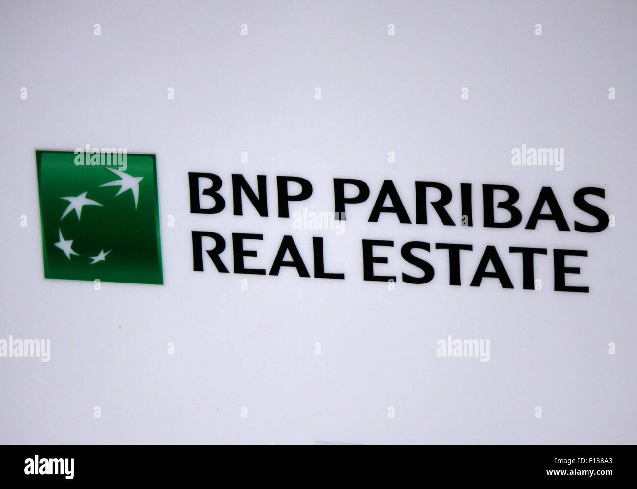 Markennamen: 'BNP Paribas Real Estate', Frankfurt am Main. - Stock Image