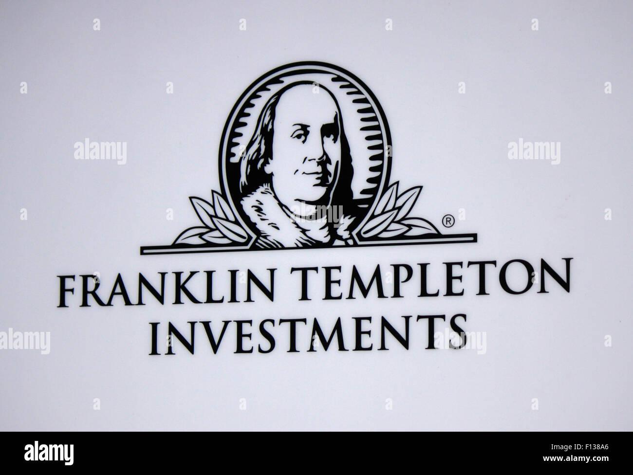 Markennamen: 'Franklin Templeton Investments', Frankfurt am Main. - Stock Image