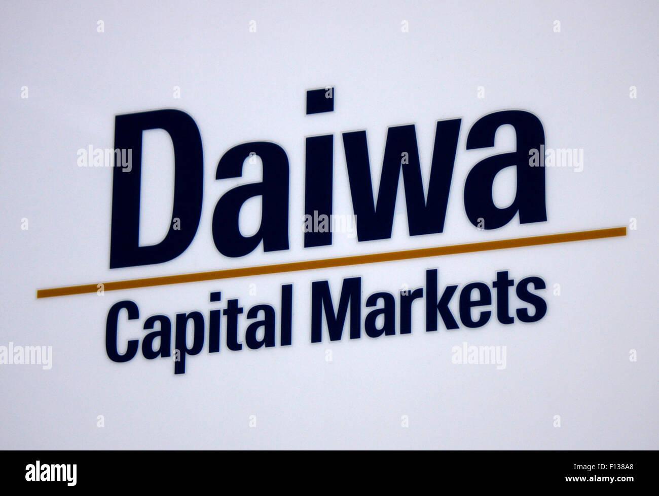 Markennamen: 'Daiwa Capital Markets', Frankfurt am Main. - Stock Image