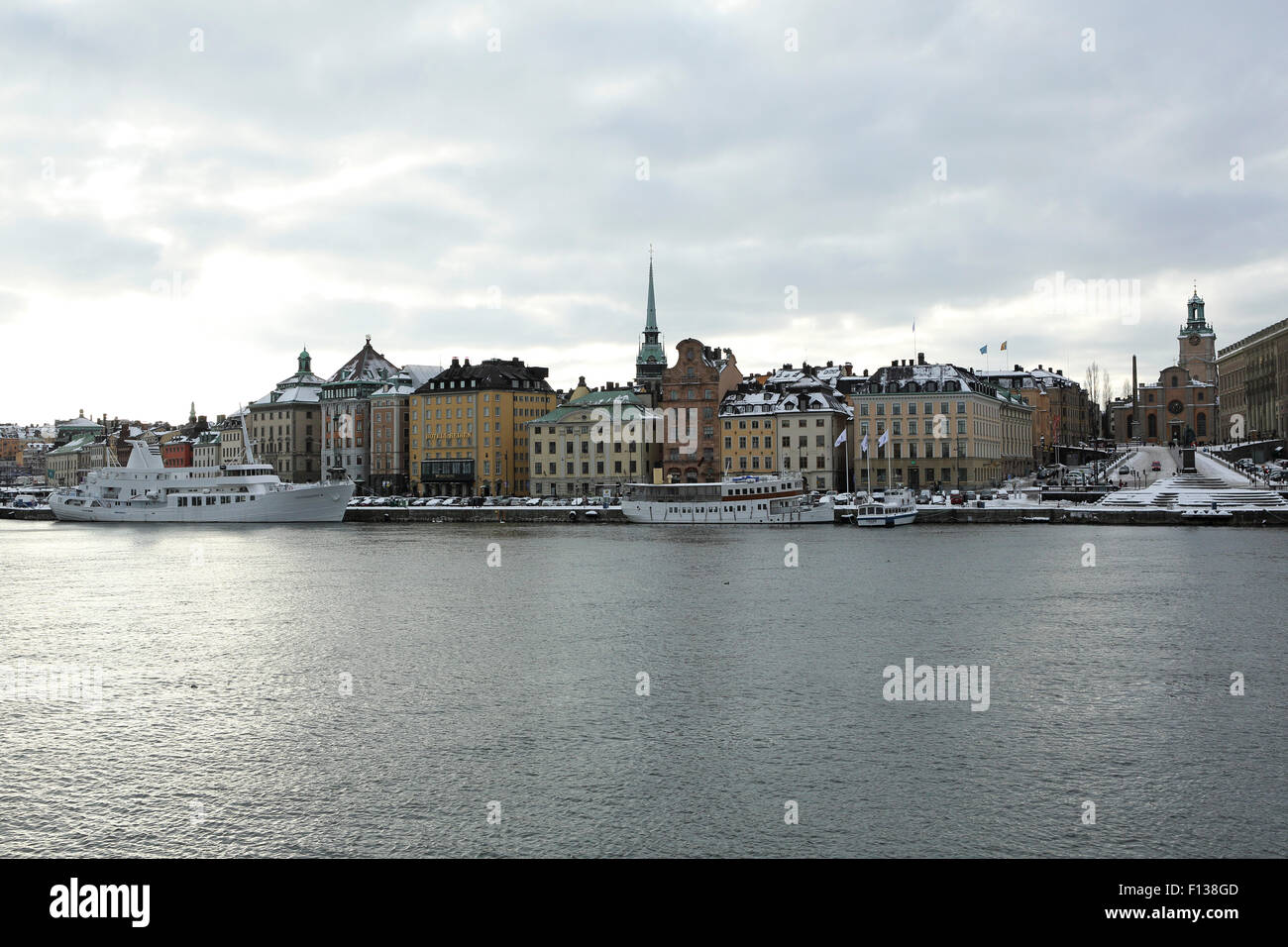 An overcast day in Stockholm, Sweden. - Stock Image