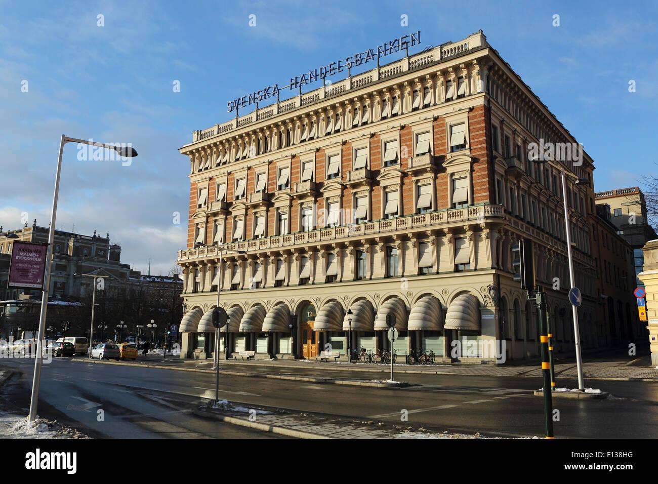 The Svenska Handelsbanken in Stockholm, Sweden. The Swedish bank was established in 1871. - Stock Image