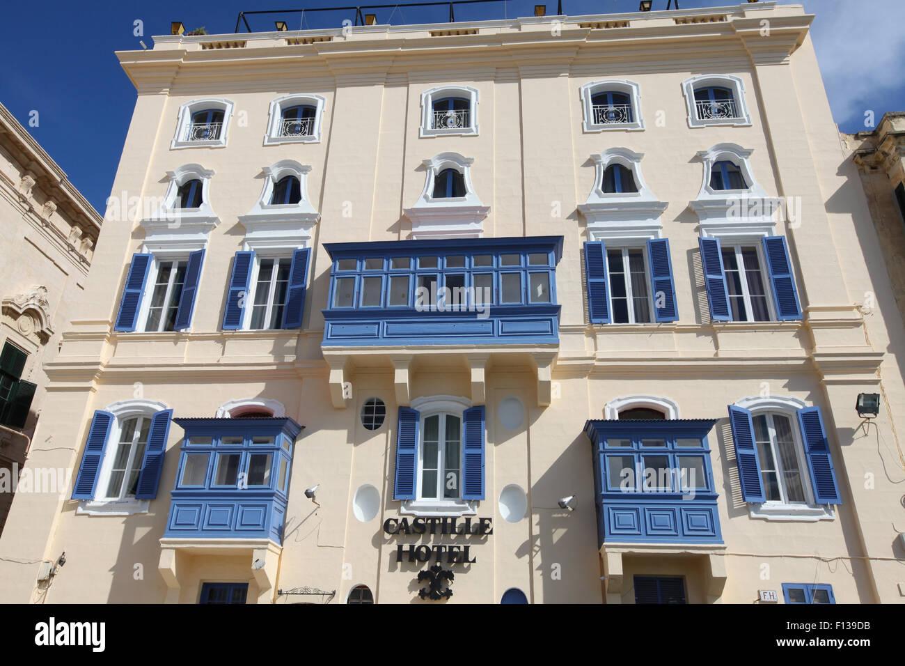 Castille Hotel, Valletta, Malta, Europe - Stock Image