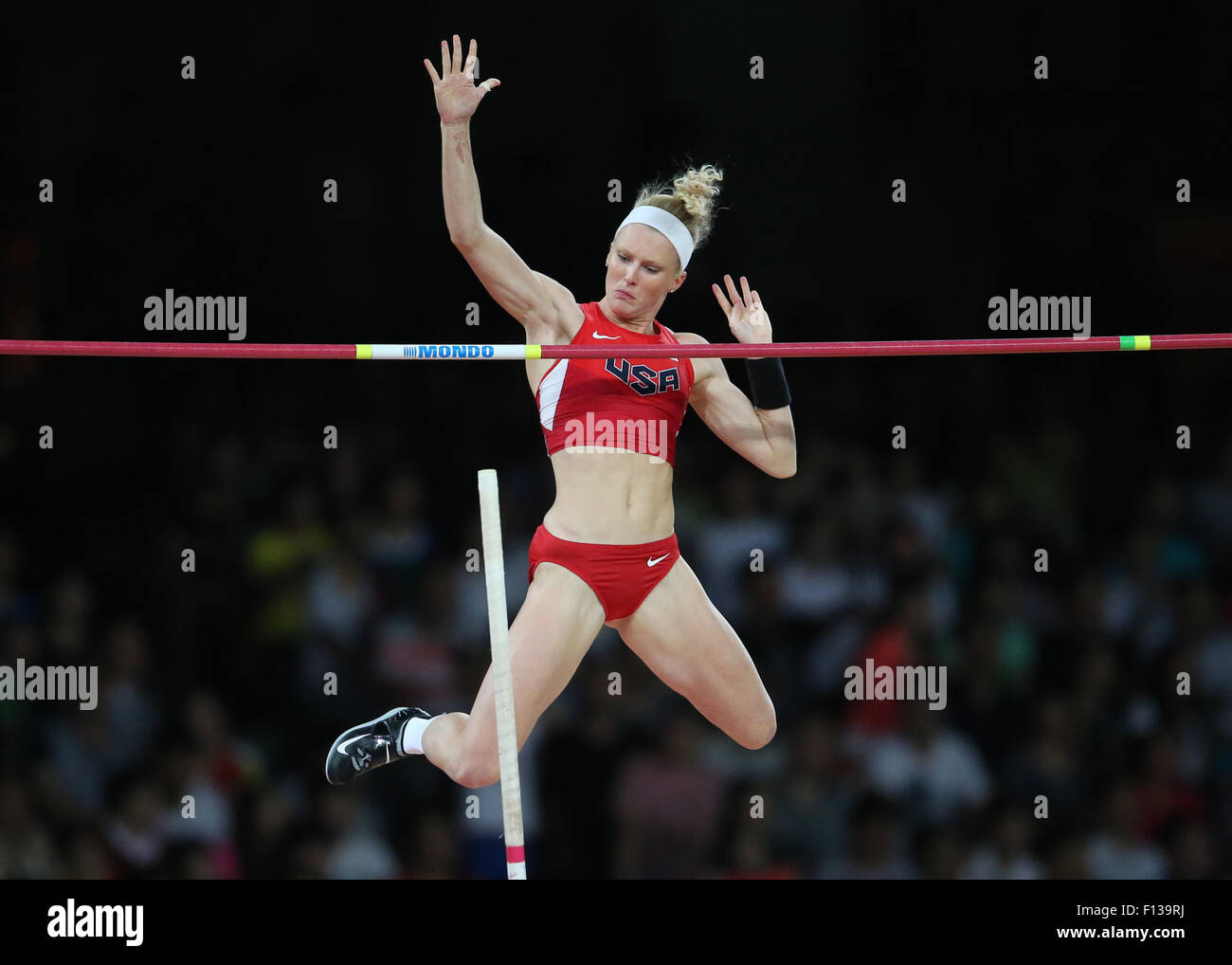 Beijing, China. 26th Aug, 2015. Sandi Morris of USA in action during the women's Pole Vault final of the Beijing - Stock Image