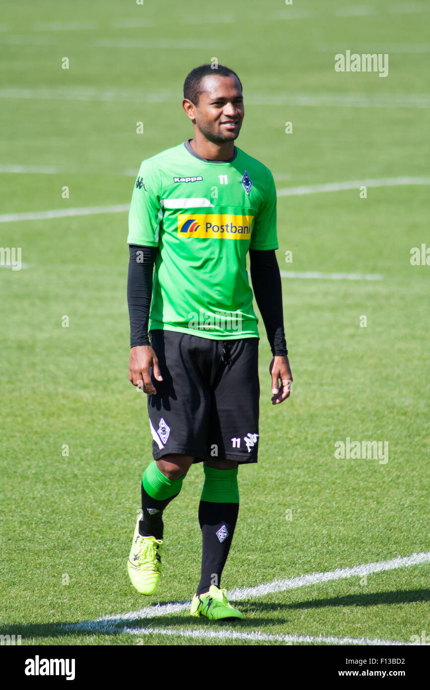 Mönchengladbach, Germany. 26th August, 2015. Professional football player Raffael during training session of - Stock Image