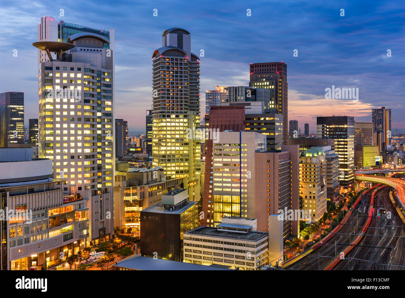 Osaka, Japan cityscape in the Umeda District. - Stock Image