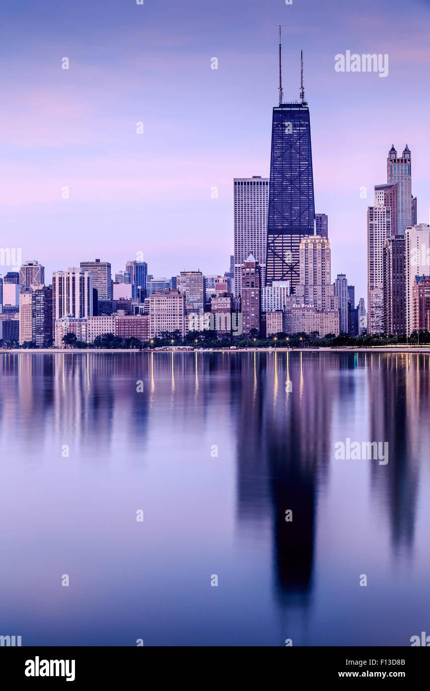 Chicago Skyline, Illinois, USA - Stock Image