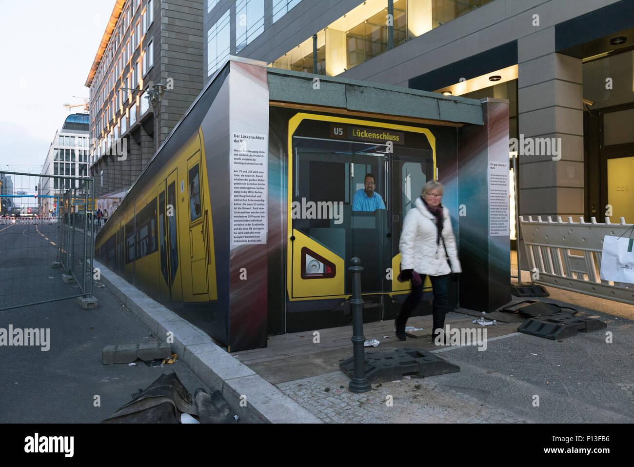 Berlin, Germany, the future output of U5 underground station Unter den Linden - Stock Image