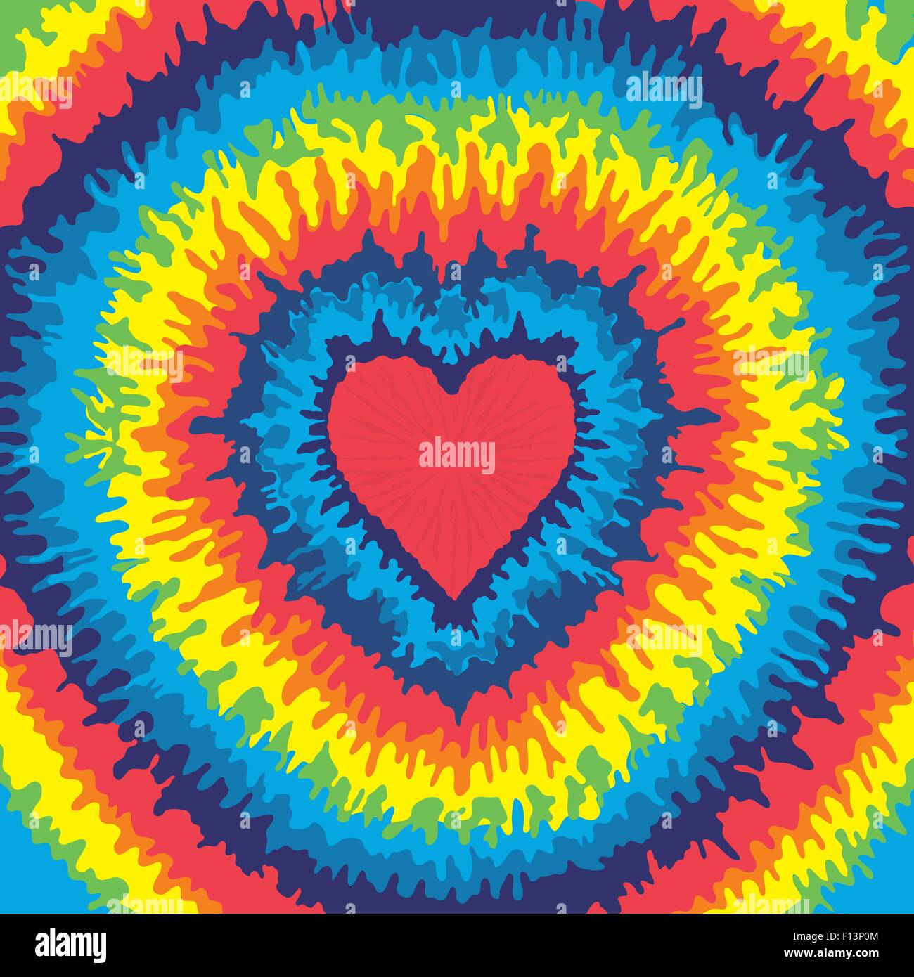 5843a981c Heart, Love, Rainbow Tie Dye Background Stock Vector Art ...