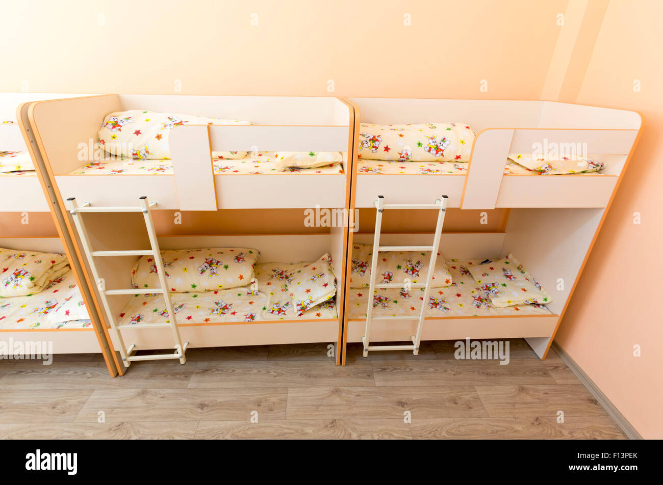 New Kindergarten Bedroom With Small Bunk Beds With Stairs For The