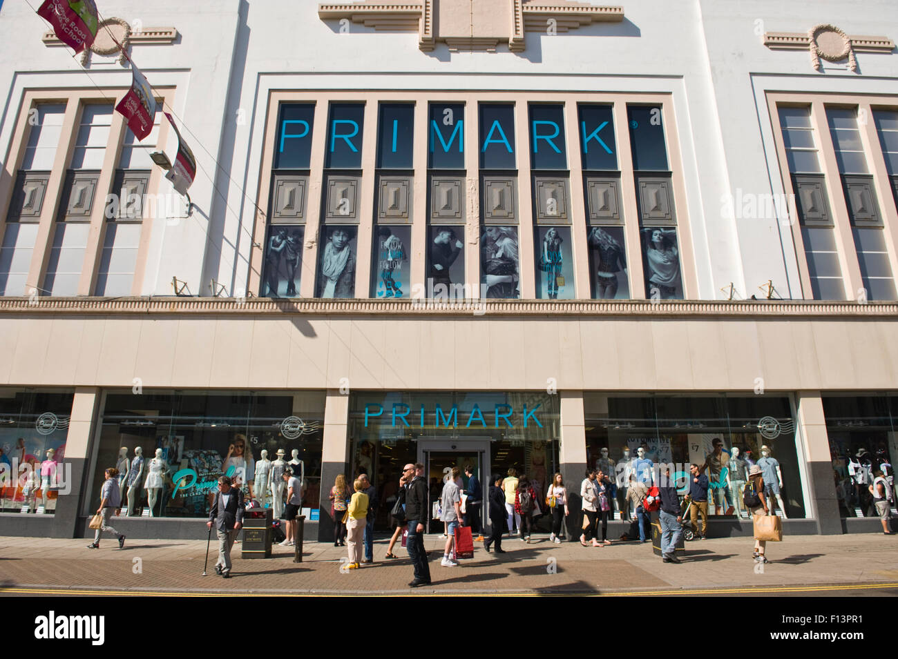 Front exterior of Primark on high street in Brighton East Sussex England UK - Stock Image