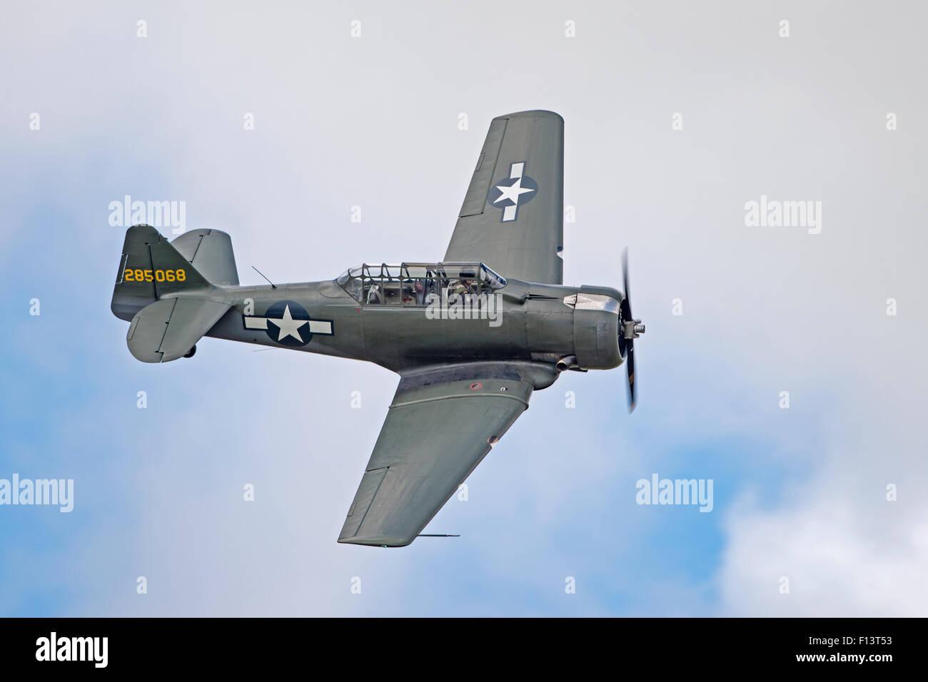 T6 Texan at RNAS Culdrose Air Day 2015 - Stock Image