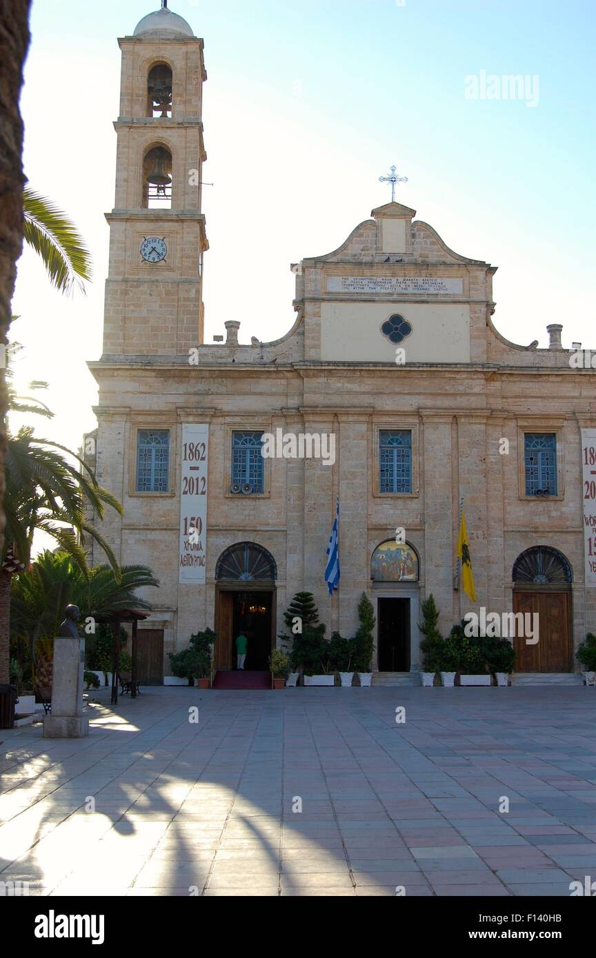 Chania cathedral on the island of Crete Greece Stock Photo