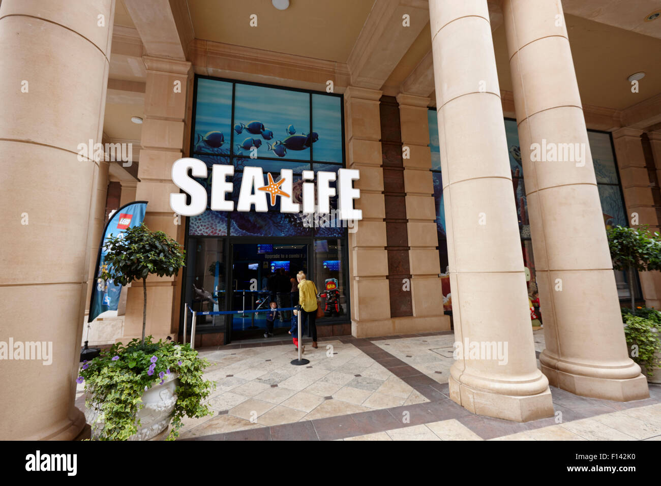 sea life centre at barton square section of the trafford centre Manchester uk Stock Photo