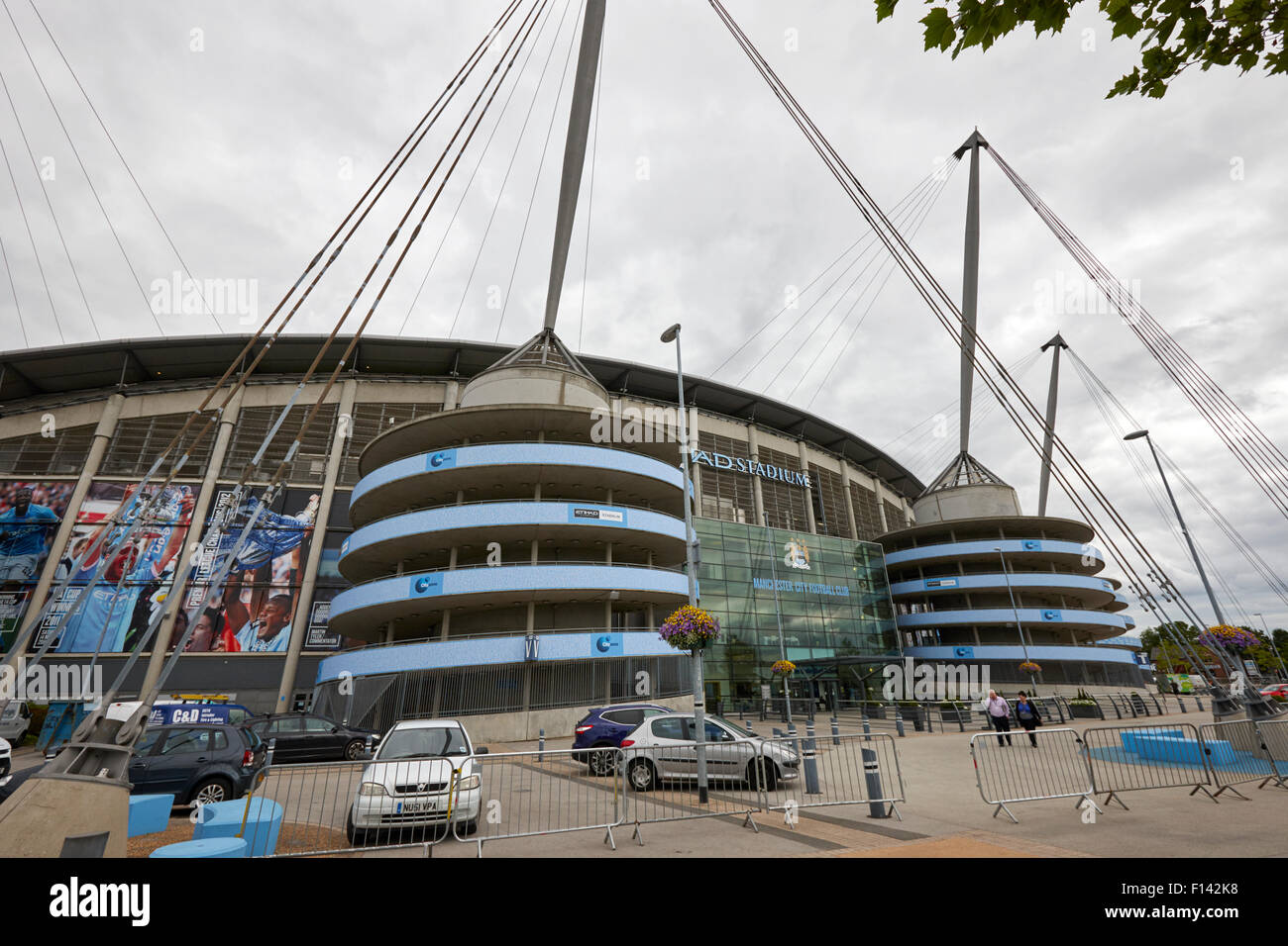 colin bell stand of Manchester City etihad stadium eastlands city of manchester stadiium uk - Stock Image