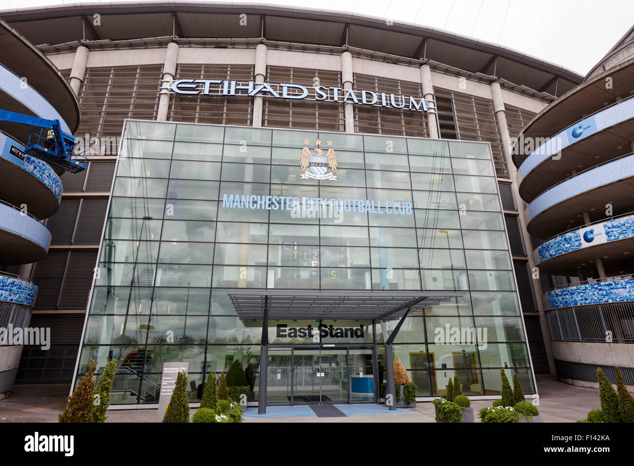east stand Manchester City etihad stadium eastlands city of manchester stadiium uk - Stock Image