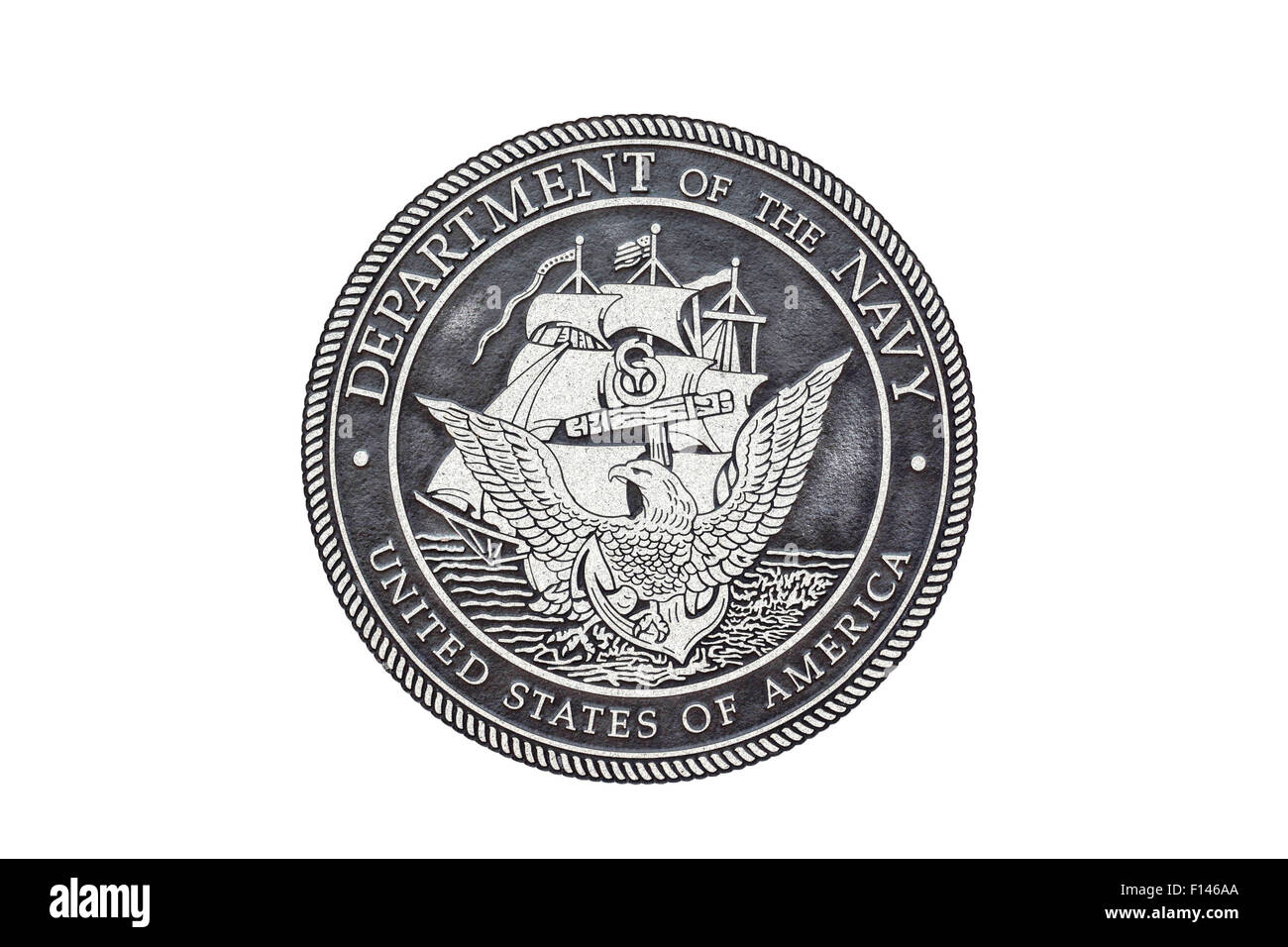 U.S. Navy  official seal on a white background. - Stock Image