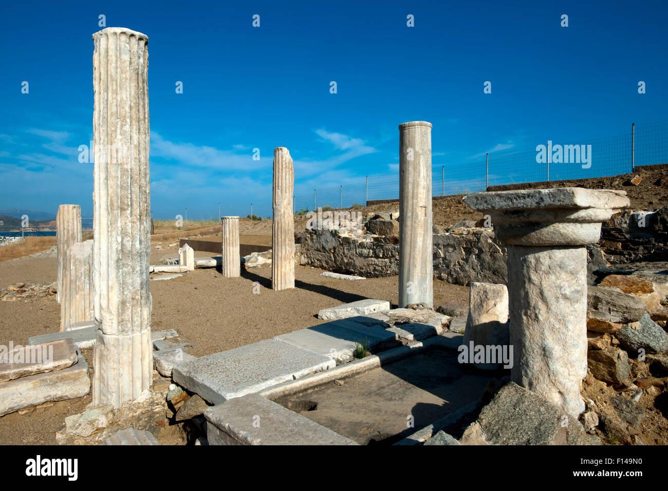 Griechenland, Kykladen, Naxos, Dionysos-Heiligtum von Yria Stock Photo