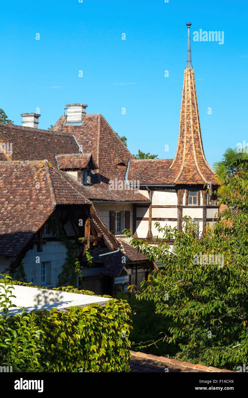 Riverside At Jarnac, Charente Maritime, South West France   Stock Image