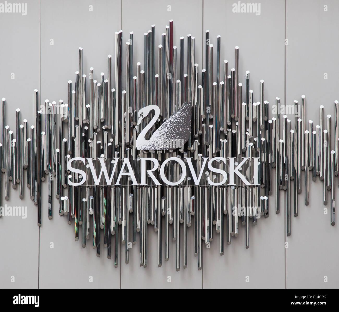 Swarovski brand on storefront in New York City Stock Photo - Alamy
