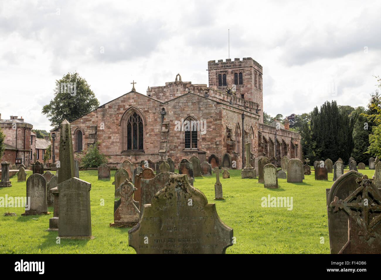 St. Lawrence Church Appleby Westmorland - Stock Image