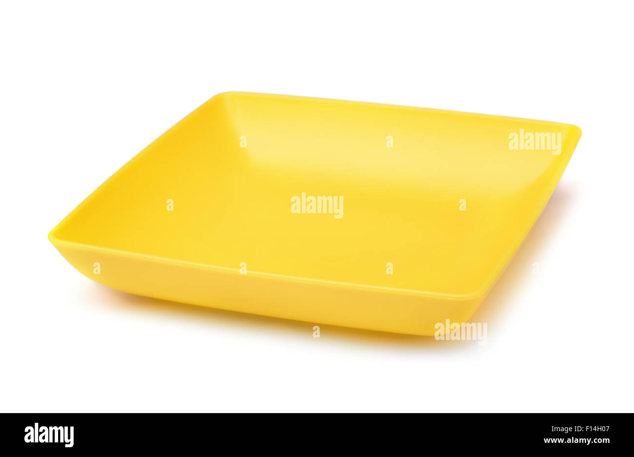 Yellow square plastic plate isolated on white - Stock Image  sc 1 st  Alamy & Square Plate Restaurant Stock Photos u0026 Square Plate Restaurant Stock ...