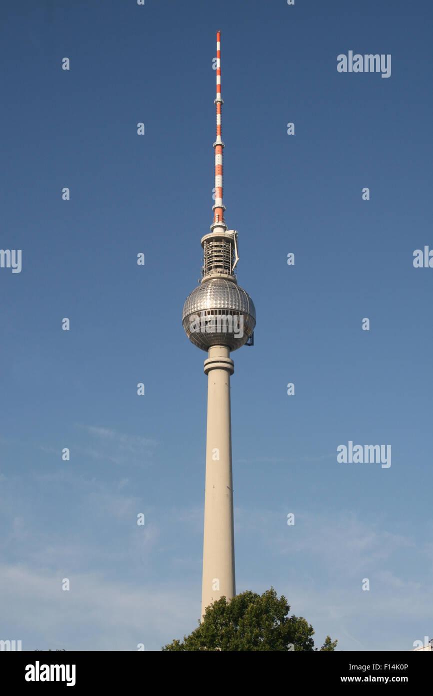 FERNSEHTURM TV DDR TOWER GDR BERLIN - Stock Image
