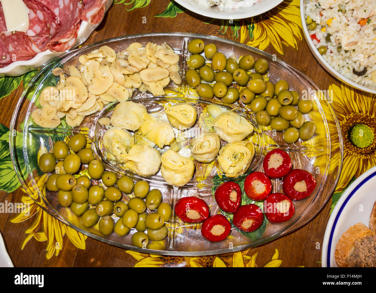 Antipasti selection - Stock Image