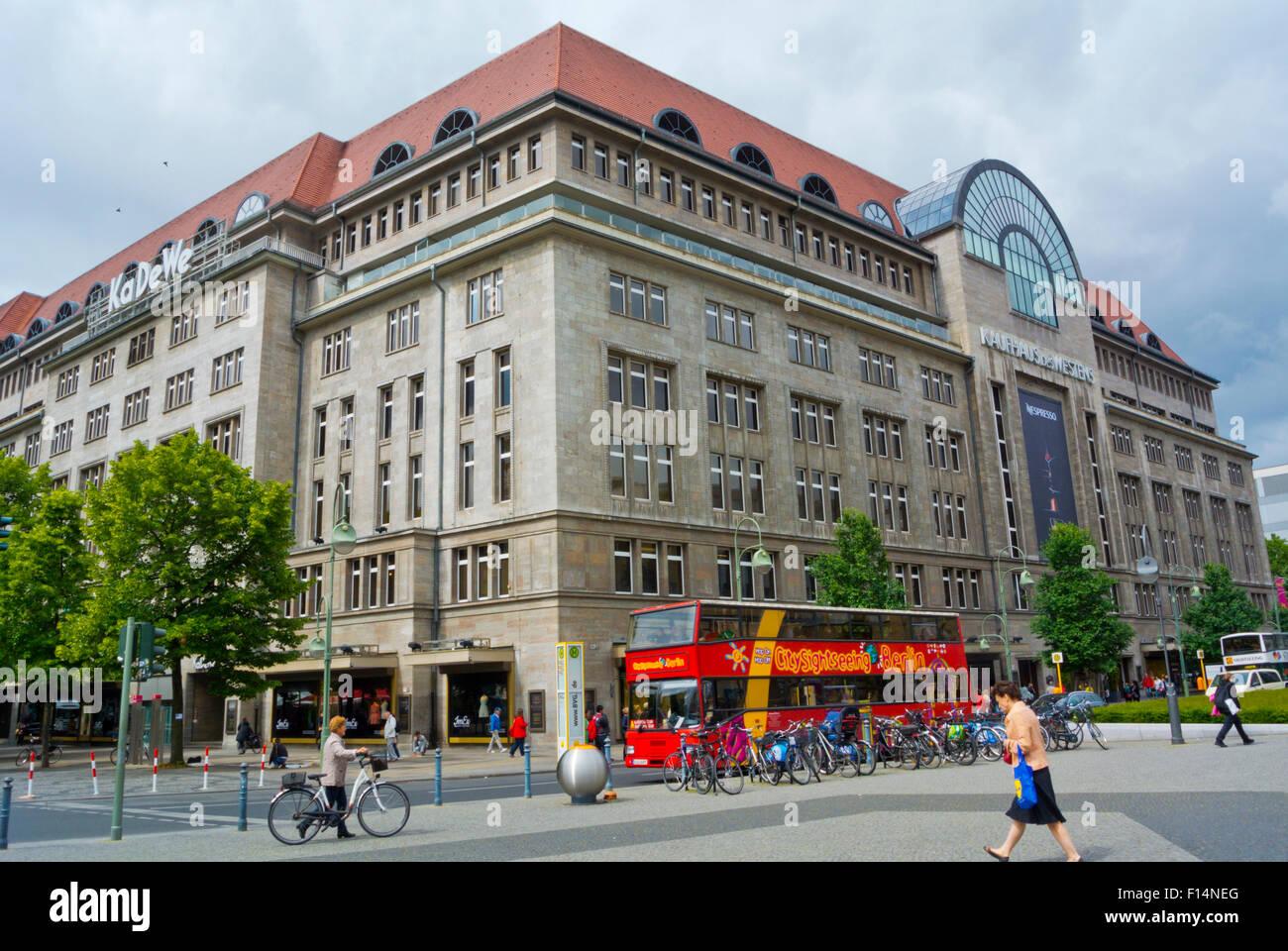KaDeWe, department store, Wittenbergplatz, west Berlin, Germany - Stock Image