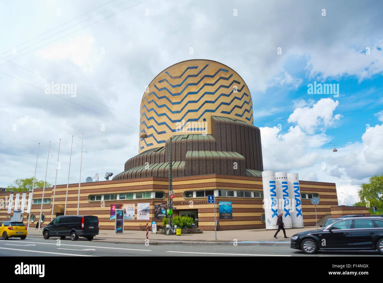 Tycho Brahe Planetarium, iMax cinema, Vesterbro, Copenhagen, Denmark - Stock Image