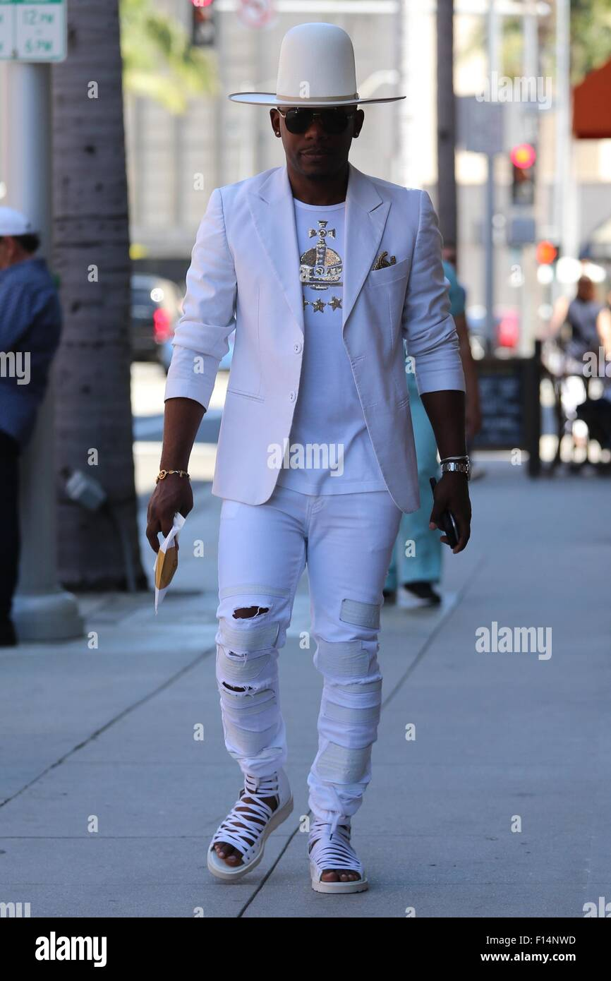 342f414e Hell Rell out and about wearing Pharrell Williams style clothing ...