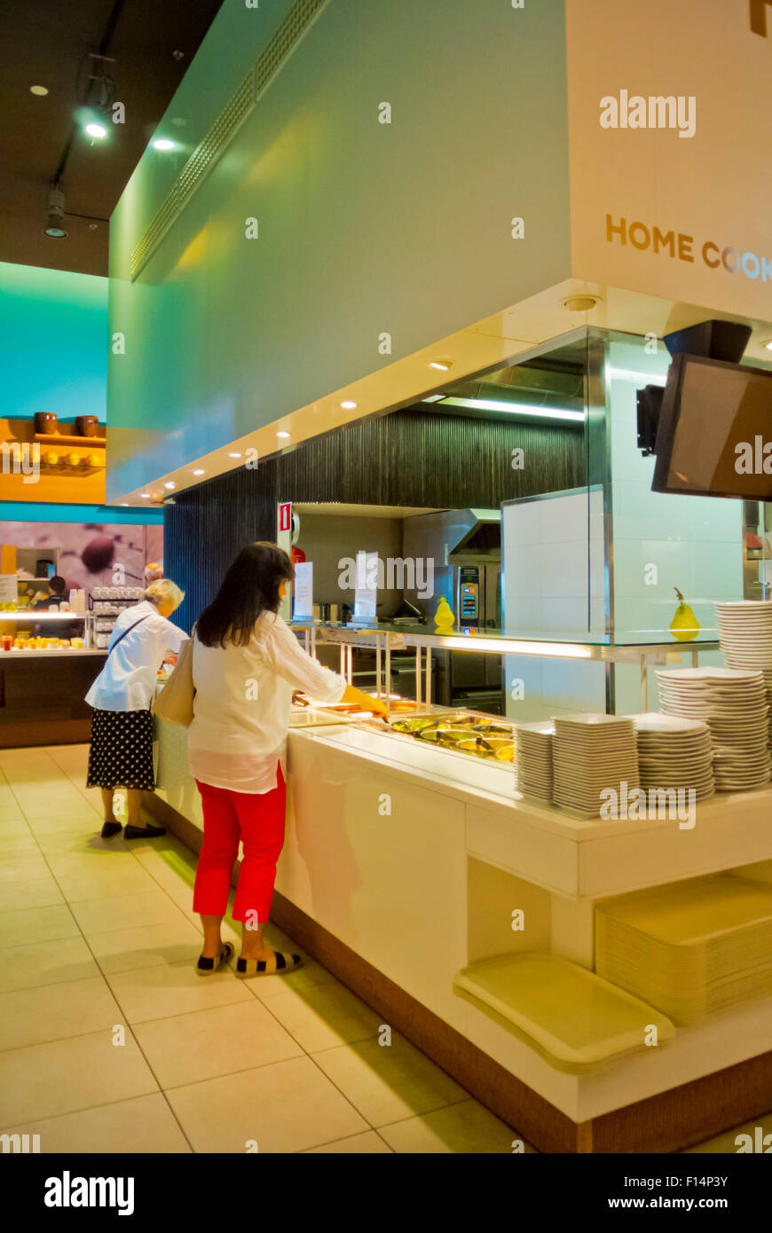 8th floor food court, Stockmann, department store, Helsinki, Finland, Europe - Stock Image