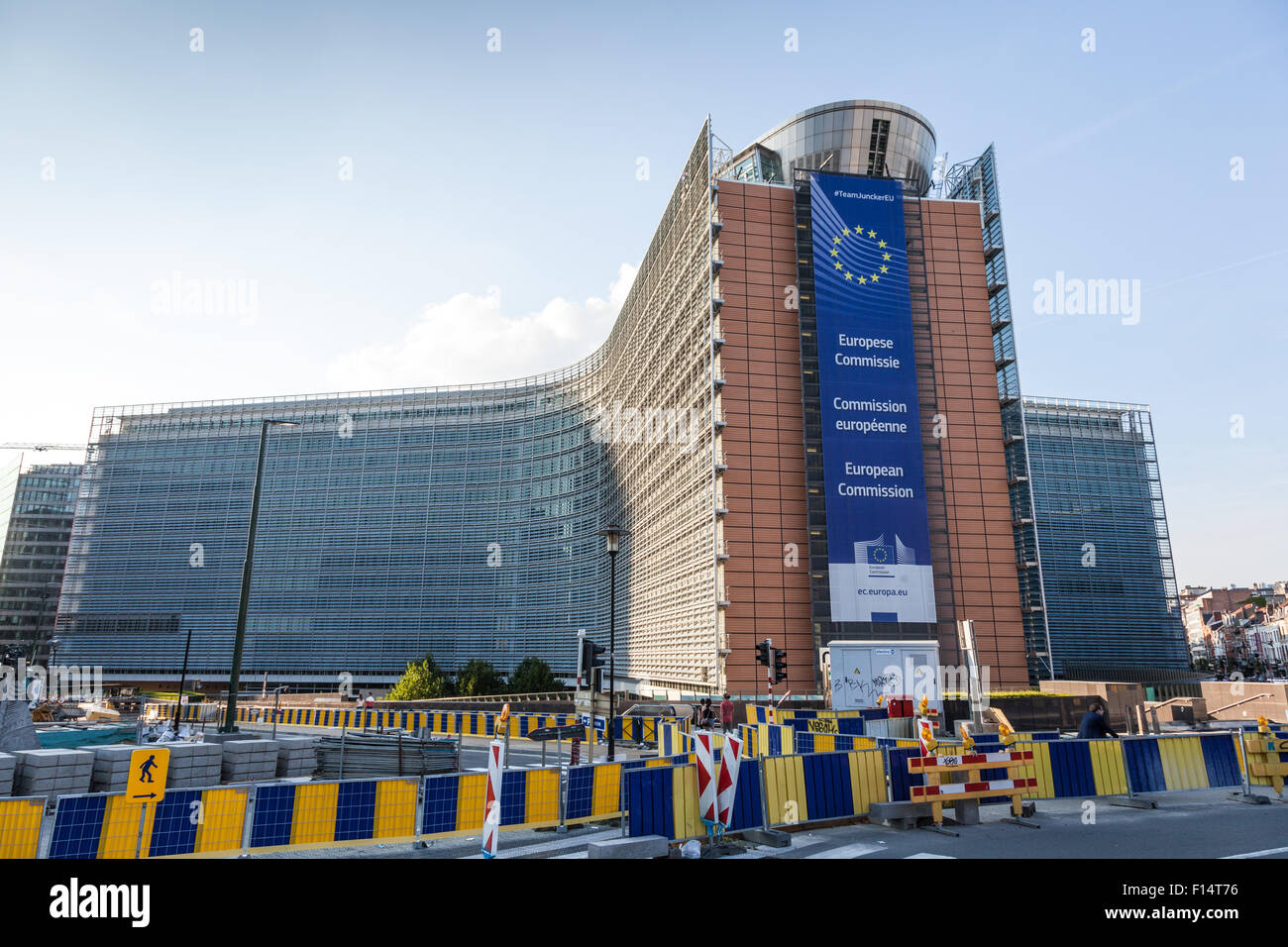 Le Berlaymont -  the European Comission building in Brussels, Belgium - Stock Image