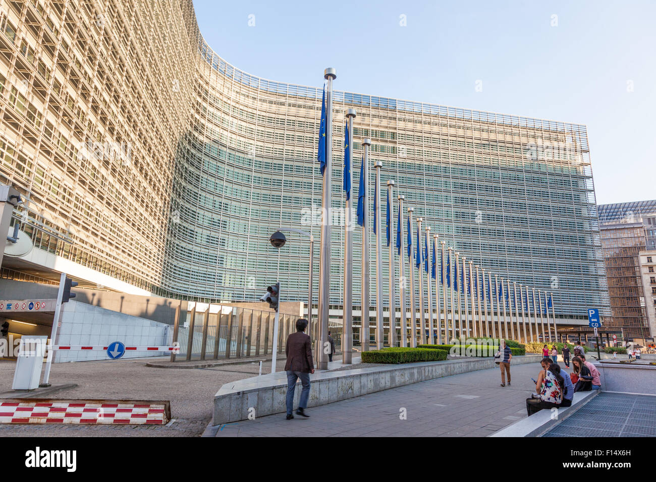 Le Berlaymont -  the European Comission building in Brussels. August 21, 2015 in Brussels, Belgium - Stock Image