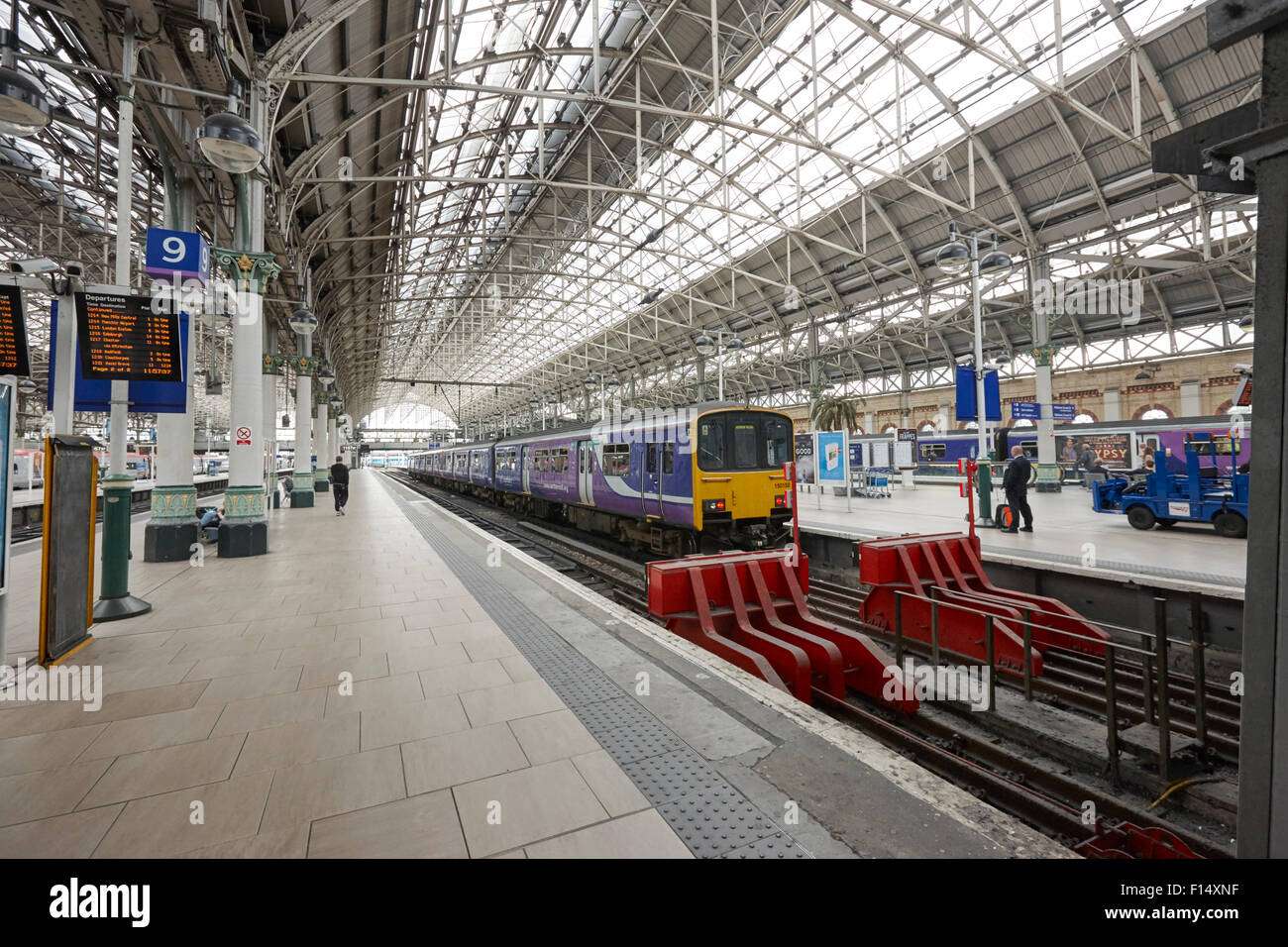 northern rail train at platform in Piccadilly train station Manchester UK - Stock Image