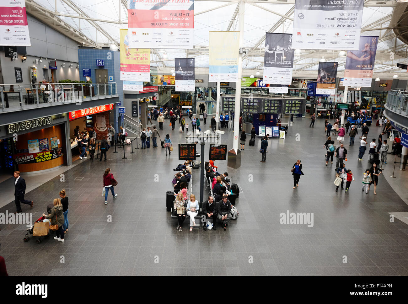 Piccadilly train station concourse Manchester UK - Stock Image