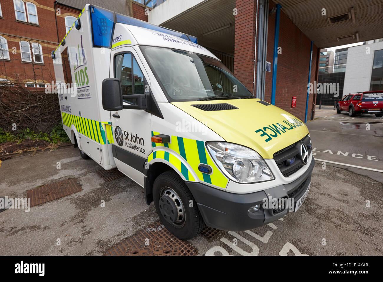 st johns ambulance critical care ambulance Birmingham UK - Stock Image