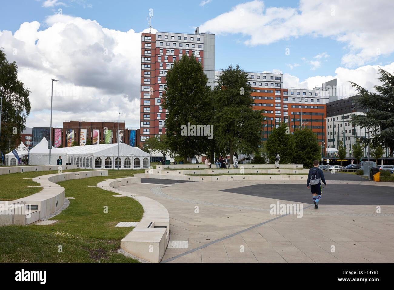 aston university campus Birmingham UK - Stock Image