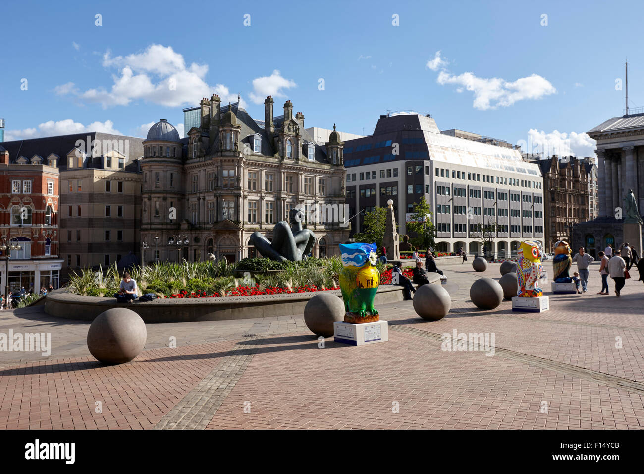 river sculpture in Victoria Square Birmingham city centre UK - Stock Image