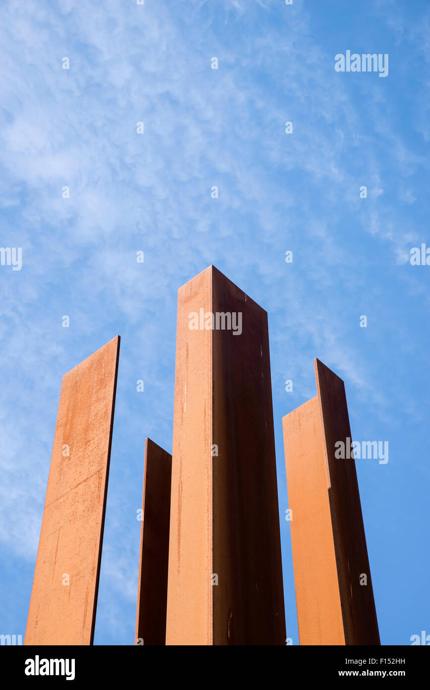 Representation of a Watch tower  Berlin Wall memorial, Germany - Stock Image