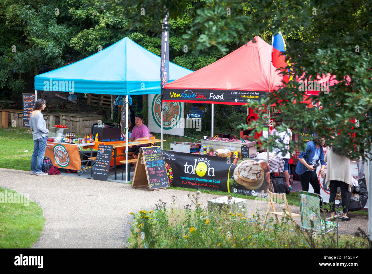 'Street Diner' street food market in Brighton, UK - Stock Image