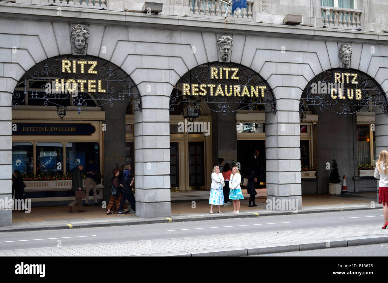 The Ritz hotel front Green Park Mayfair - Stock Image