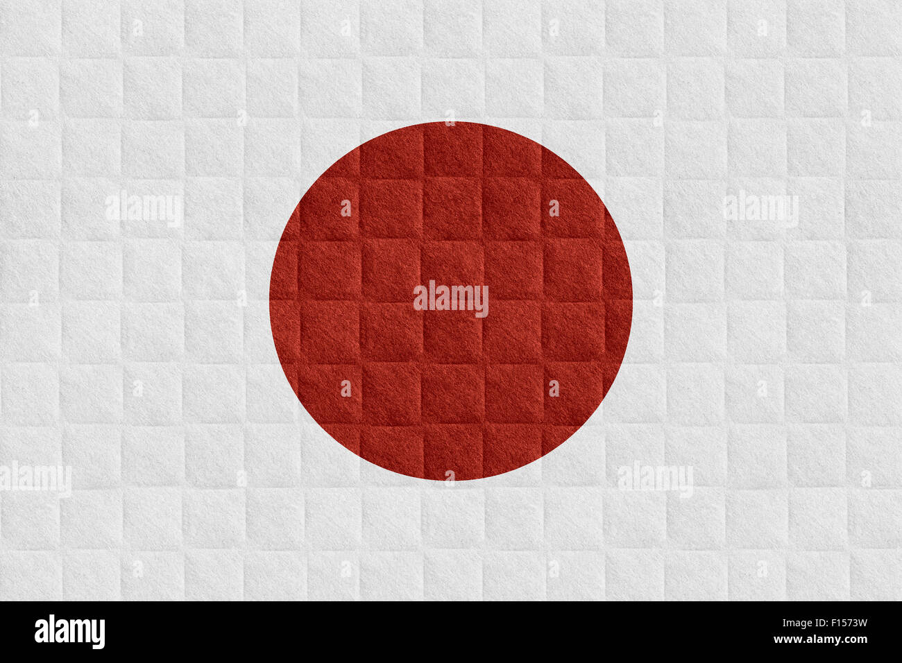 flag of Japan or Japanese banner on check pattern background Stock Photo